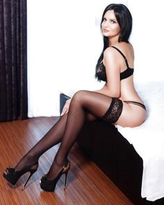 Sexy girls in stockings and heels