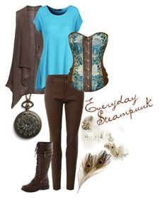 """Outfits - typically """"On a regular basis Steampunk by kristinamelane ❤ preferred on Polyvor Steampunk Costume, Steampunk Clothing, Steampunk Outfits, Beautiful Outfits, Cool Outfits, Fashion Outfits, Gothic Fashion, Fashion Ideas, Casual Outfits"""