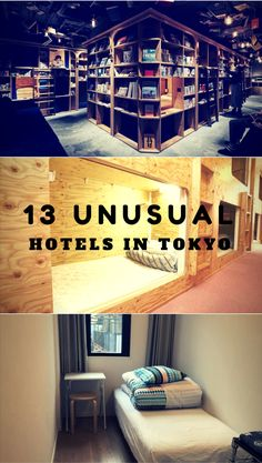 Check out our list of top unusual hotels in Tokyo, Japan. Tokyo hotels | cheap Tokyo accommodation | budget hotels Tokyo | unique accommodation Japan | Tokyo travel | offbeat accommodation Tokyo | Tokyo travel tips
