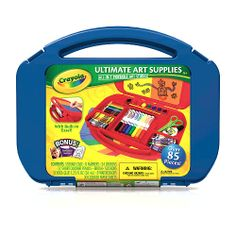 """Ultimate Art Supplies with Easel - Blue - Crayola - Toys """"R"""" Us"""