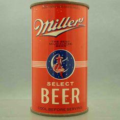 vintage miller beer can