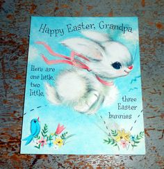 Vintage Greeting Card Easter Hallmark Grandpa Bunny by TheBackShak, $3.00