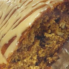 PECAN PIE BREAD with CARAMEL GLAZE * spices * with sugar or Splenda (sugar-free) *