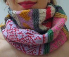 Knitting pattern - Confetti Rags to Riches Scarf by Sandra Eterovic Fair Isle Knitting, Hand Knitting, Knitting Projects, Crochet Projects, Knitting Patterns, Crochet Patterns, Purl Bee, Use E Abuse, Quilt Modernen