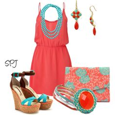 coral and turquoise #StellaDotStyle Shop>>http://www.stelladot.com/sites/Alexstanbach
