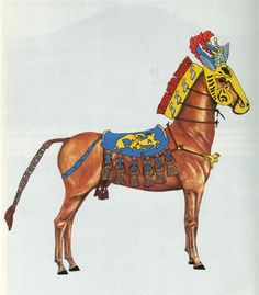 Reconstructions of horse trappings from Scythian royal burials, 5th century BC. From Renate Rolle, The World of the Scythians.