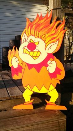 Heat Miser Christmas holiday yard decorations. Yard art. @sbucket   Where is Josh when I need him, I want to use Heat Miser and Snow Miser in my photo shoot lol
