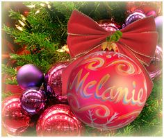 """Melanie"" Ornament / Christmas Ornament / Days of our Lives / #DAYS"