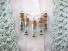 amazing charm necklace by Cathe Holden via CRAFT #necklace #miniature