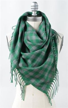 Ranch Check Scarves @Marci Cloughley Basics #SpringStyle