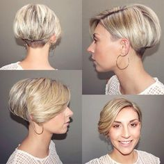 just short haircuts, nothing else. If you're thinking of getting an undercut, sidecut, pixie, or any. Pixie Haircut For Thick Hair, Short Straight Hair, Undercut Hairstyles Women, Curly Bob Hairstyles, Easy Hair Cuts, Long Hair Cuts, Short Wedge Hairstyles, Short Hair Styles, Assymetrical Haircut