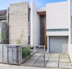 Facad Rumah Minimalis House at Pasteur ADDO Architect Home Building Design, Building Exterior, Facade Architecture, Sustainable Architecture, Facade Design, Exterior Design, Simple House Exterior, Modern Minimalist House, Minimalist Interior