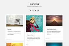 Candela Portfolio WordPress Theme Themes Candela is a responsive and creative portfolio theme geared to agencies, freelancers, and artists. I by DesignOrbital Blog Layout, Portfolio Layout, Creative Portfolio, Bootstrap Template, Image Font, Grid Layouts, Responsive Layout, Best Templates