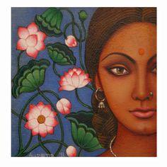 Kerala Mural Painting, India Painting, Madhubani Painting, Madhubani Art, Krishna Painting, Pichwai Paintings, Indian Art Paintings, Abstract Paintings, Landscape Paintings