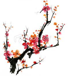 chinese paint brushing-cherry blossoms. This would be a cute tattoo