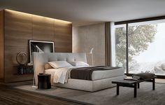 Buffet contemporain / en cerisier / en MDF / en plaqué bois - PANDORA - Poliform