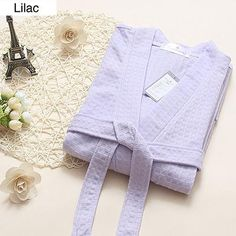 On Sale Women Suck Sweat Cotton Bathrobe Sexy Summer Kimono Waffle Bath Robe Dressing Gown Bridesmaid Robes for Bride Wedding