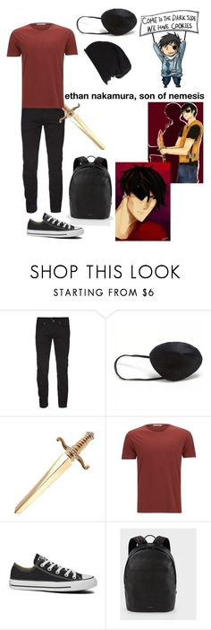 """""""ethan nakamura, son of nemesis ❤️"""" by gglloyd ❤ liked on Polyvore featuring Nudie Jeans Co., Converse, Paul Smith, River Island and Hera"""