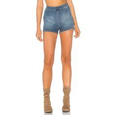 AMUSE SOCIETY Vice Short ($54) ❤ liked on Polyvore featuring shorts, jean shorts, denim shorts, denim short shorts, cotton shorts and side zip shorts