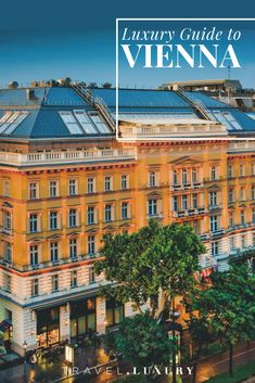 The Luxury Travel Guide to Vienna, Austria. What luxury hotels to stay in, the finest gourmet restaurants and the best in sites for your next unforgetable trip to Austria. Boutique Hotels, Europe Travel Guide, Travel Destinations, Travel Guides, Luxury Travel, Travel Usa, Travel Trip, Rotterdam, Resorts