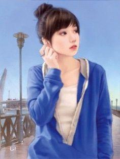 Девушка - анимация на телефон №1427066
