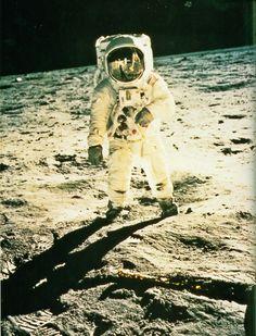Edwin Aldrin on the moon, July 20, 1969  taken by Neil Armstrong