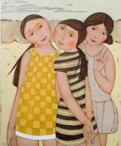 Cécile Veilhan, Les petites robes, 73x60 cm (réservé)