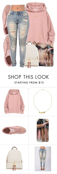 """{Light-skinned girls, like their hair and, it come with a twist}"" by xbad-gyalx ❤ liked on Polyvore featuring Kamushki, Puma and MICHAEL Michael Kors"