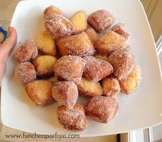 3-Minute Donut Bites...easy and addicting! Fun camping treat for breakfast