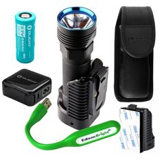 Olight R50 Pro SEEKER LE 3200 Lumen CREE LED USB rechargeable searchlight/flashlight, charging dock, rechargeable battery with EdisonBright USB reading light bundle. 5 Years Manufacturer Warranty >>> Continue to the product at the image link.
