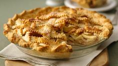 A bit of whipping cream adds a touch of  richness to a classic apple pie made easy with unroll-and-fill refrigerated pie crust.