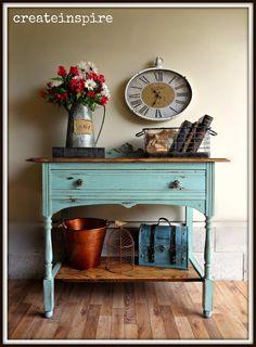 {createinspire}: Vintage Server in Chappel Green Reclaimed Furniture, Repurposed Furniture, Refinished Furniture, Furniture Refinishing, White Painted Furniture, Chalk Paint Furniture, Furniture Makeover, Furniture Decor, Cottage Furniture