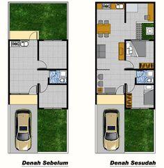Desain Denah Rumah Type 36 Renovasi