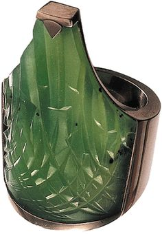 Lily Leaf Ring, 2003. jade & 18ct white gold by Charlotte De Syllas
