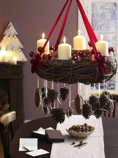 festliche tischdeko ideen weihnachtsdeko kranz