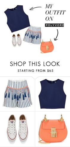 """""""Unbenannt #44"""" by lenahh99 on Polyvore featuring Mode, Alphamoment, Alice + Olivia, Converse und Chloé"""
