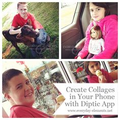 How to create collages in your phone with Diptic app via @amandapadgett