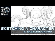 Drawing A Character In Sketchbook Pro - Demonstration Video