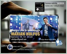 Business cards sibiu, Business cards muzica evenimente