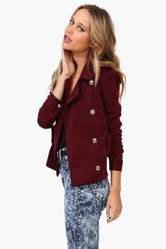 e1b9d2acd3669b Wool Jacket in Burgundy// Stylish Clothes For Women, Classic Chic, Future  Fashion