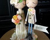Torta de boda con vestido de novia personalizado - recuerdo personalizado por MilkTea