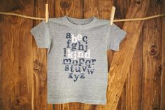 Be Kind  Kids Apparel  ABC TShirt  Size 6 Gray by BeKindMovement, $20.00