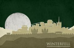 The Houses of Game of Thrones minimalist posters