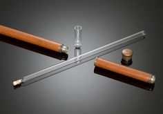 """Toulouse-Lautrec Cane - Named after the famed artist (and notorious drinker) Henri de Toulouse-Lautrec, this cane conceals a glass flask and cup within the malacca shaft. Toulouse-Lautrec owned a similar cane with a secret compartment for carrying his illicit spirits.     35"""" length"""
