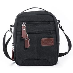 96b72dfdb7ed Mens Cross body Multi functional Mini Shoulder Casual Travelling Sling  Pouch Organizer Messenger Canvas Satchel Versatile Bag-in Crossbody Bags  from Luggage ...