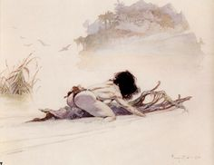Frank Frazetta - River Escape