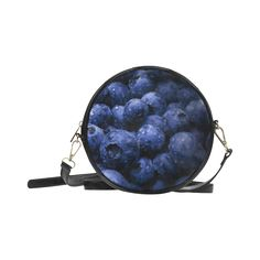 Blueberries Round Messenger Bag. FREE Shipping. #artsadd #bags #fruits