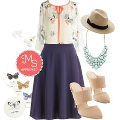 In this outfit: Artistic Aspirations Top, Just This Sway Skirt in Navy, Quote Couture Earrings in Silver, Dapper Keeper Hat, Surefire Statement Necklace, Coffee Wings Coaster Set, Unforgettable Evenings Heel in Sand  << How does a coaster set correspond with an outfit??