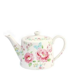 GreenGate Stoneware Teapot Summer White H 15,5 cm | NEW! Spring/Summer 2014 | Originated-Webshop