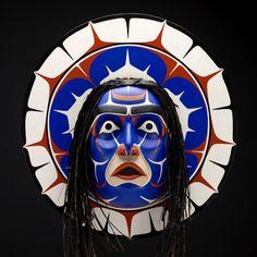 Nuxalk Sun Mask by Glenn Tallio, Nuxalk artist (W70603)